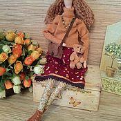 Куклы и игрушки ручной работы. Ярмарка Мастеров - ручная работа Кукла тильда  осенняя Арина фея ангел. Handmade.