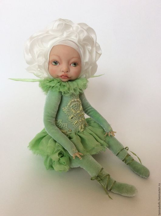 Коллекционные куклы ручной работы. Ярмарка Мастеров - ручная работа. Купить Розочка Эльза (на заказ). Handmade. Роза, шёлк