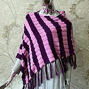 Одежда handmade. Livemaster - original item Copy of Striped poncho. Handmade.
