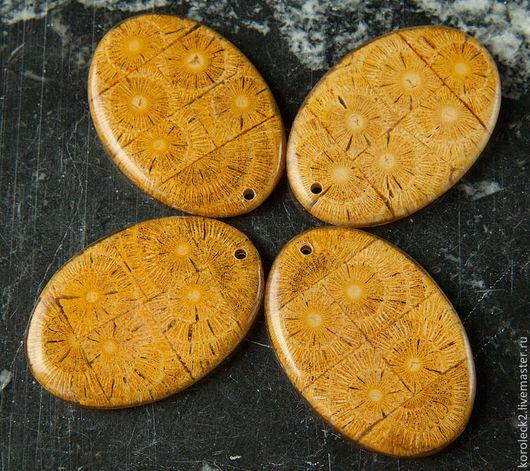 Для украшений ручной работы. Ярмарка Мастеров - ручная работа. Купить Желтая овальная подвеска из дерева Albutra. Handmade. Дерево
