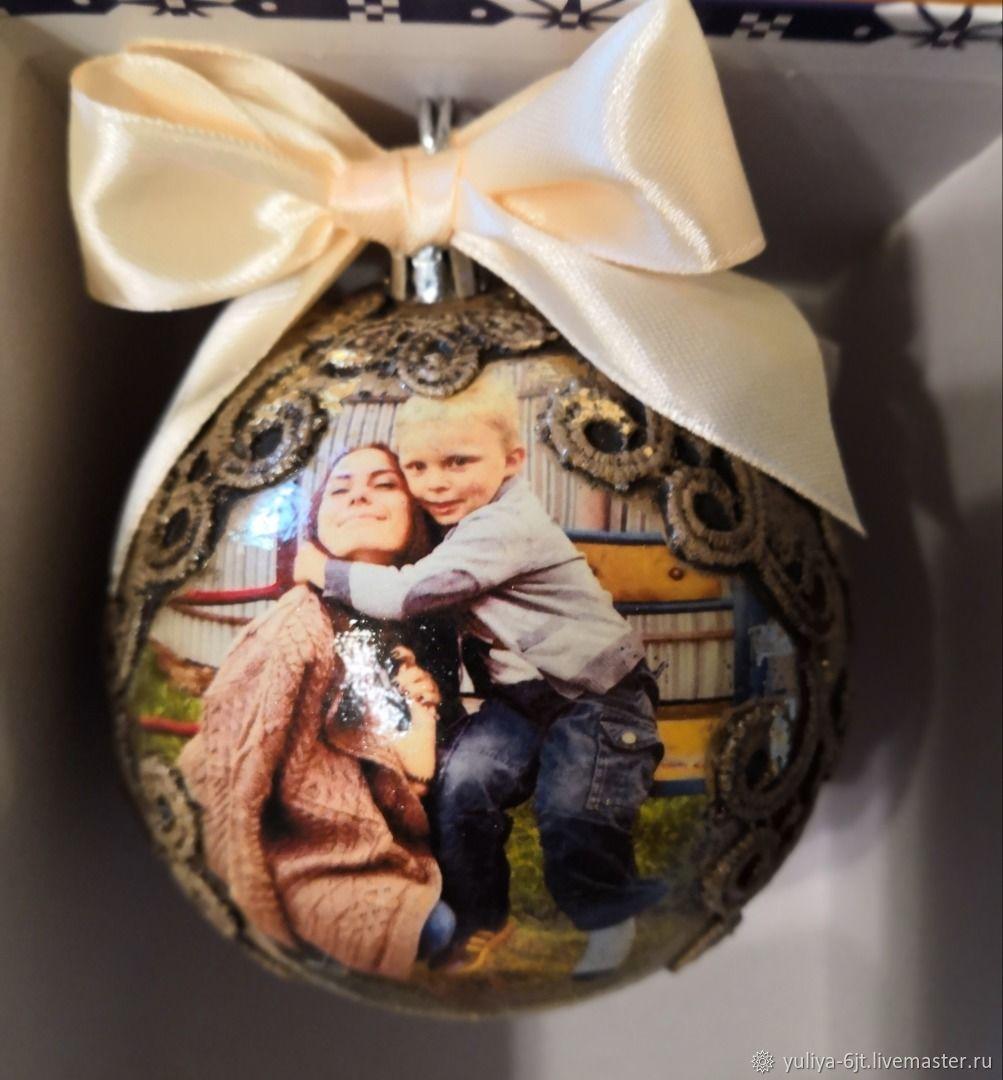 новогодние шары с фотографией на заказ волгоград