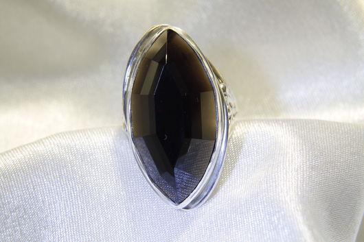 Кольца ручной работы. Ярмарка Мастеров - ручная работа. Купить Перстень из серебра с морионом. Handmade. Черный, серебряный перстень