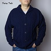 Мужская одежда handmade. Livemaster - original item Men`s knitted classic cardigan with buttons. Handmade.