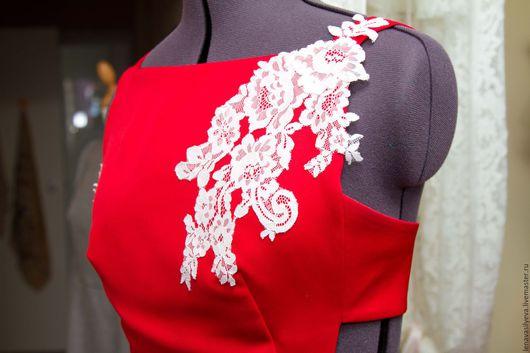 Платья ручной работы. Ярмарка Мастеров - ручная работа. Купить Платье в пол. Handmade. Ярко-красный, платье в пол