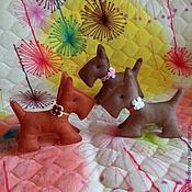 Куклы и игрушки ручной работы. Ярмарка Мастеров - ручная работа Собачки (игрушки из фетра). Handmade.