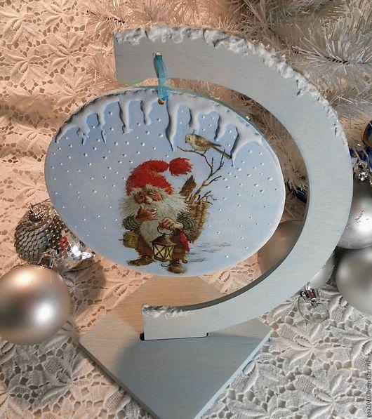 """Новый год 2017 ручной работы. Ярмарка Мастеров - ручная работа. Купить """"Winter's tale"""" интерьерная подвеска. Handmade. Комбинированный"""