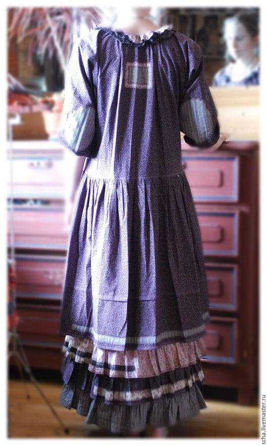 Платья ручной работы. Ярмарка Мастеров - ручная работа. Купить Фиолетовое. Handmade. Цветочный, Свободный стиль, натуральные материалы