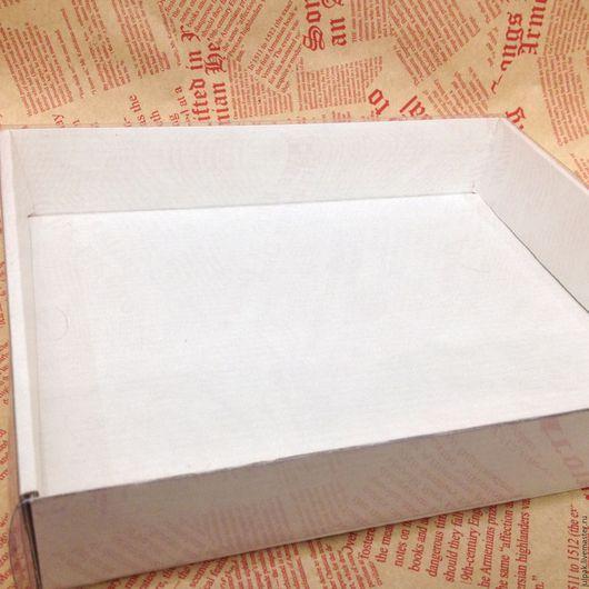 Упаковка ручной работы. Ярмарка Мастеров - ручная работа. Купить Коробка 29-23-6 с прозрачной крышкой. Handmade. Белый