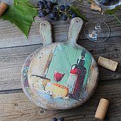 """Для дома и интерьера ручной работы. Ярмарка Мастеров - ручная работа """"Сыр и вино"""" доски сырные. Handmade."""