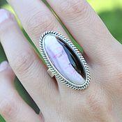 Украшения handmade. Livemaster - original item Ring with pink agate made of 925 silver SP0146. Handmade.