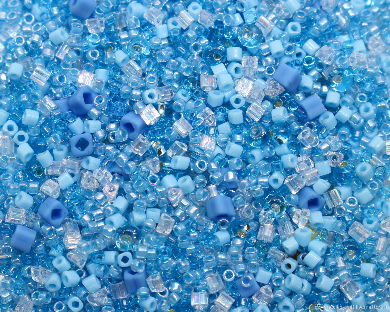 Японский бисер «TOHO» микс №02 голубой 10 г, Бисер, Санкт-Петербург,  Фото №1