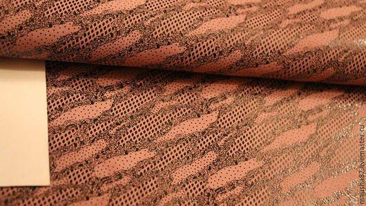 Шитье ручной работы. Ярмарка Мастеров - ручная работа. Купить кожа МРС серо-розовый рисунок. Handmade. Натуральная кожа