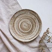 Тарелки ручной работы. Ярмарка Мастеров - ручная работа Тарелки: матовая тарелка. Handmade.