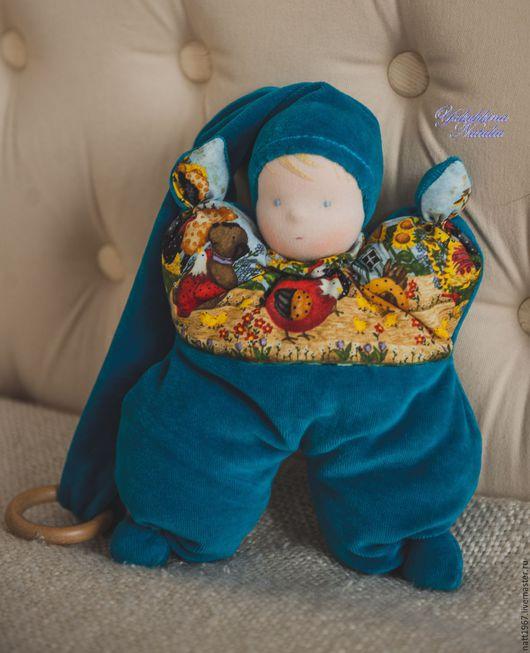 Вальдорфская игрушка ручной работы. Ярмарка Мастеров - ручная работа. Купить Бабочка-вальдорфская куколка. Handmade. Тёмно-бирюзовый