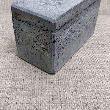 Для дома и интерьера ручной работы. Ярмарка Мастеров - ручная работа Шкатулка из бетона. Handmade.