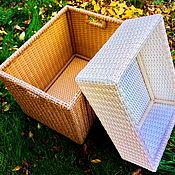 Короб ручной работы. Ярмарка Мастеров - ручная работа Корзины,короба плетеные из полиротанга. Handmade.