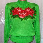 """Одежда ручной работы. Ярмарка Мастеров - ручная работа вязаный свитерок """" Розовые розы"""". Handmade."""