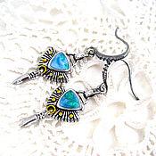 Украшения handmade. Livemaster - original item Stylish Women`s Bullet Shot Earrings with Enamel. Handmade.