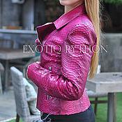 handmade. Livemaster - original item bright python leather jacket. Handmade.