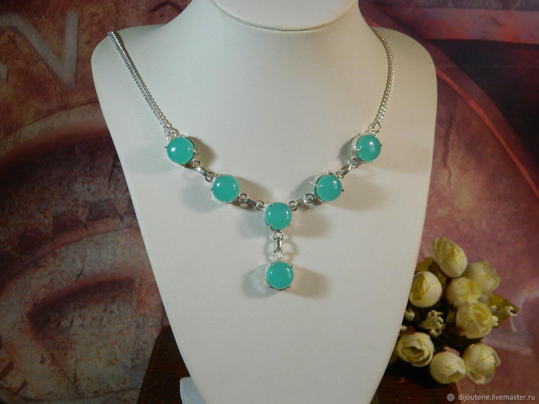Necklace Chalcedony, Necklace, Saratov,  Фото №1