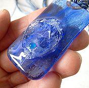 """Украшения ручной работы. Ярмарка Мастеров - ручная работа Кулон """" Синие сумерки"""". Handmade."""