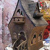 """Для дома и интерьера ручной работы. Ярмарка Мастеров - ручная работа Интерьерный ночничок """"Пряничный домик"""". Handmade."""