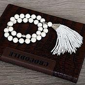 """Фен-шуй и эзотерика ручной работы. Ярмарка Мастеров - ручная работа Четки """"Белый коралл"""". Handmade."""