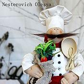 Куклы и игрушки ручной работы. Ярмарка Мастеров - ручная работа Повар для кухни.. Handmade.