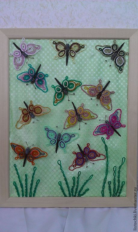 """Фантазийные сюжеты ручной работы. Ярмарка Мастеров - ручная работа. Купить Коллаж """"Полет бабочек"""". Handmade. Подарок на любой случай"""