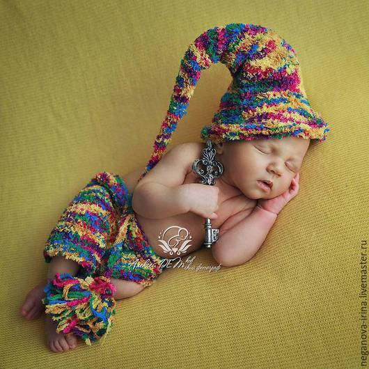 Для новорожденных, ручной работы. Ярмарка Мастеров - ручная работа. Купить Костюмчик разноцветного Гномика. Handmade. Разноцветный, для новорожденного, для детей