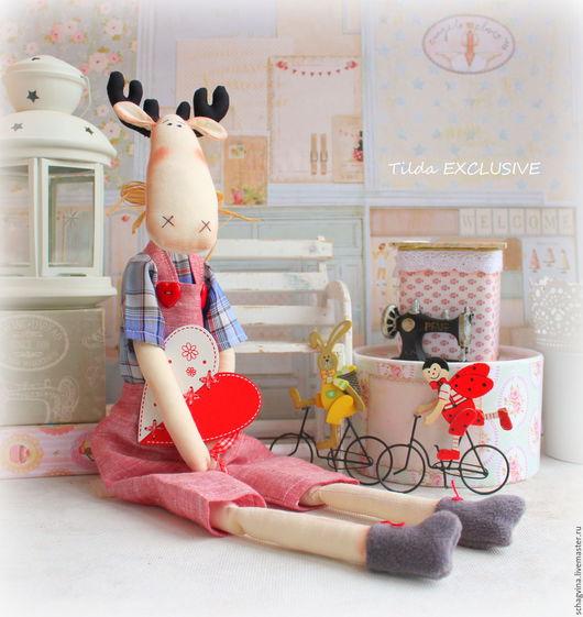 Игрушки животные, ручной работы. Ярмарка Мастеров - ручная работа. Купить Лось Валера. Handmade. Кукла Тильда, куклы и игрушки