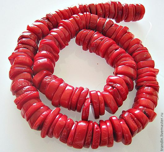 Для украшений ручной работы. Ярмарка Мастеров - ручная работа. Купить Красные натуральные кораллы. Кейши. Бусины 12мм. Handmade.