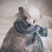 Мягкие игрушки ручной работы. Ярмарка Мастеров - ручная работа Снежок.... Handmade.
