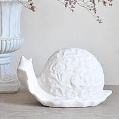 handmade. Livemaster - original item Snail Provence of concrete with openwork texture, figurine snail. Handmade.