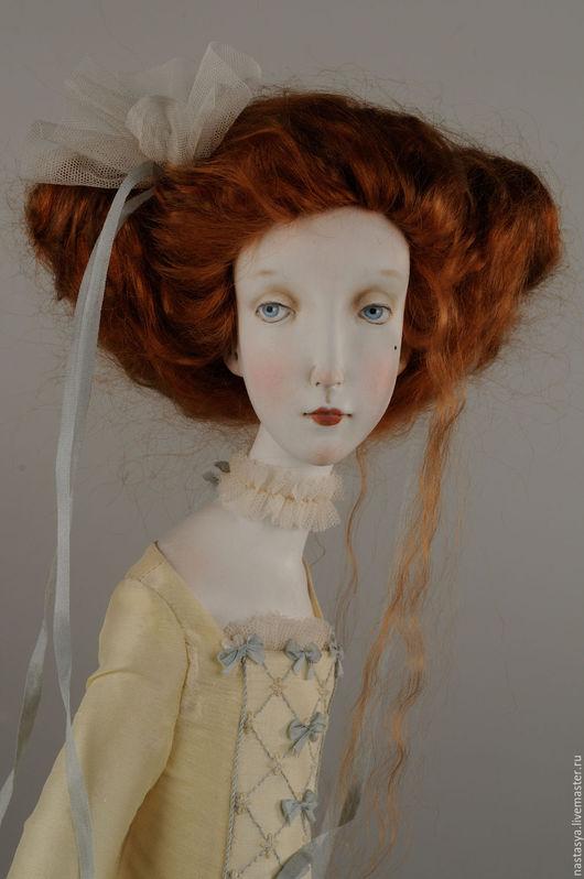Коллекционные куклы ручной работы. Ярмарка Мастеров - ручная работа. Купить Авторская кукла Камилла. Handmade. Лимонный