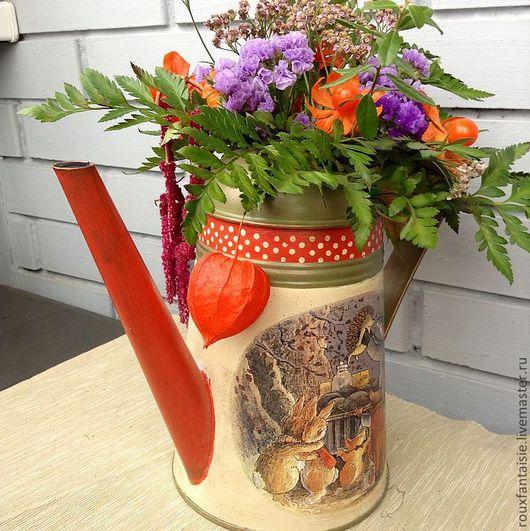 Лейки ручной работы. Ярмарка Мастеров - ручная работа. Купить Осенние краски. Handmade. Бежевый, лейка для цветов, уютный дом