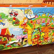 Куклы и игрушки ручной работы. Ярмарка Мастеров - ручная работа Развивающий мульт-бортик на детскую кроватку. Handmade.