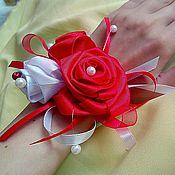 Браслеты ручной работы. Ярмарка Мастеров - ручная работа Браслеты для подружек невесты! Красная роза. Handmade.