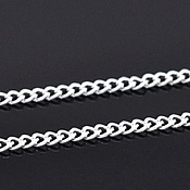 Материалы для творчества handmade. Livemaster - original item Silver plated chain 3Х4 mm.. Handmade.