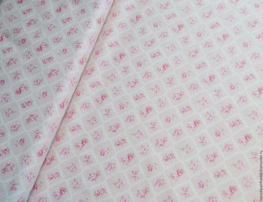 """Шитье ручной работы. Ярмарка Мастеров - ручная работа. Купить Хлопок для шитья. Ткань для пэчворка. Корея. """"Розочки шебби"""". Handmade."""