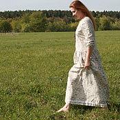 Одежда ручной работы. Ярмарка Мастеров - ручная работа Платье льняное в пол. Handmade.