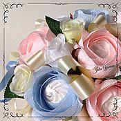 Цветы и флористика ручной работы. Ярмарка Мастеров - ручная работа Букет из зефира. Handmade.