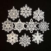 Подарки к праздникам handmade. Livemaster - original item Set of snowflakes on the Christmas tree Snowstorm 10 PCs.. Handmade.