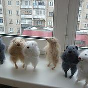 Куклы и игрушки handmade. Livemaster - original item Knitted mouse Lariska - spokes. Handmade.