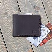Картхолдер ручной работы. Ярмарка Мастеров - ручная работа Тонкий и компактный бумажник для карт и купюр. Handmade.