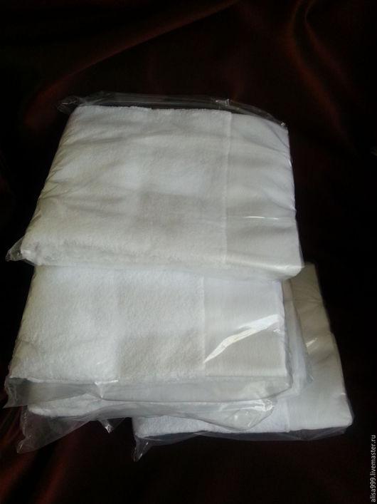 Текстиль, ковры ручной работы. Ярмарка Мастеров - ручная работа. Купить Белые махровые полотенца для 50x90 см. Handmade. Белый