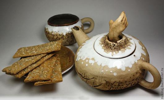 Сервизы, чайные пары ручной работы. Ярмарка Мастеров - ручная работа. Купить Вспоминая шхеры Ладоги. Handmade. Коричневый