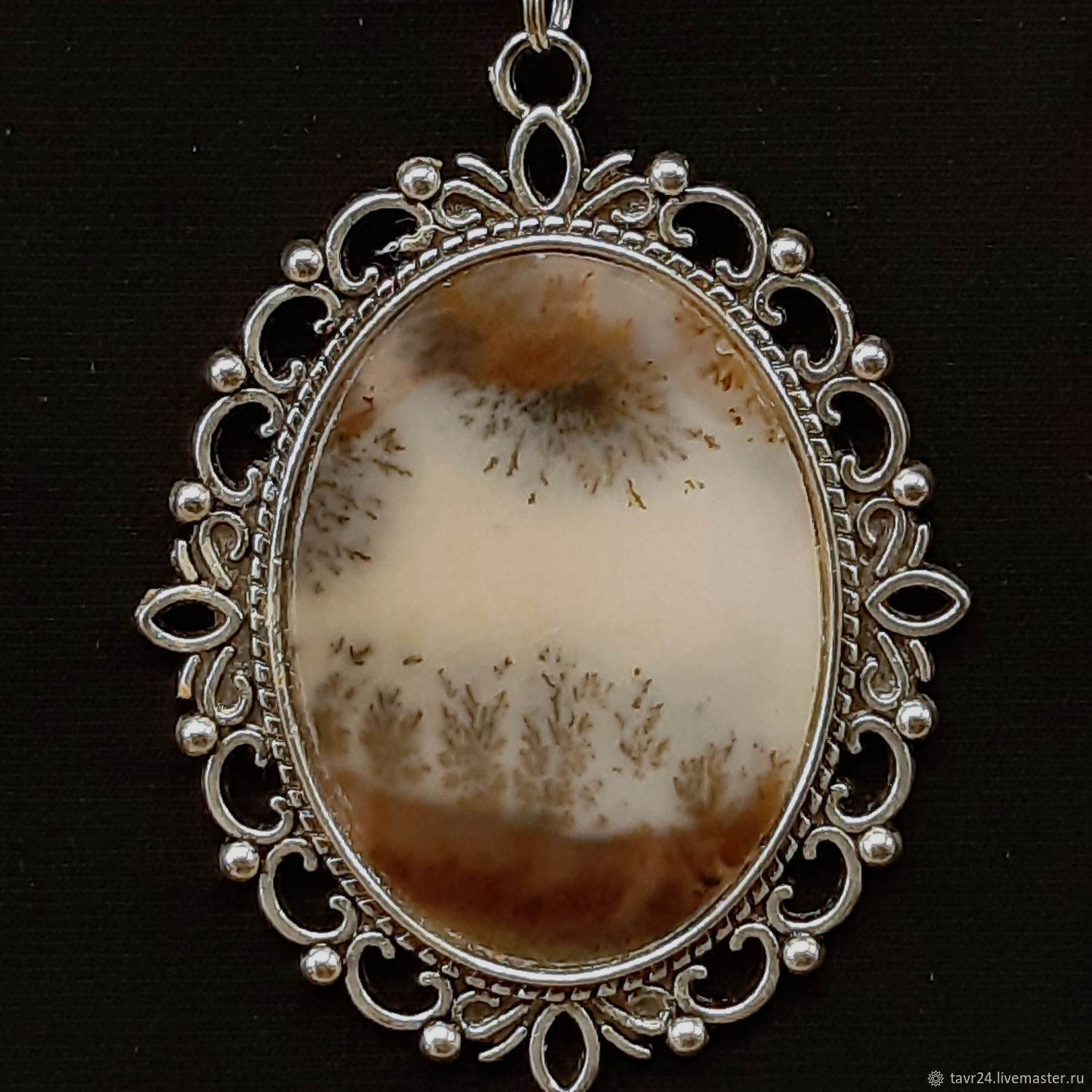 pendant No. 72. Chalcedony, an agate, agate Moholy, Pendant, St. Petersburg,  Фото №1