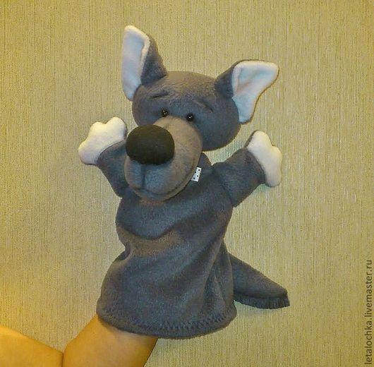 Кукольный театр ручной работы. Ярмарка Мастеров - ручная работа. Купить Добрый волк (кукла-перчатка). Handmade. Кукла-перчатка