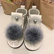 Обувь ручной работы. Ярмарка Мастеров - ручная работа Белые валенки. Handmade.